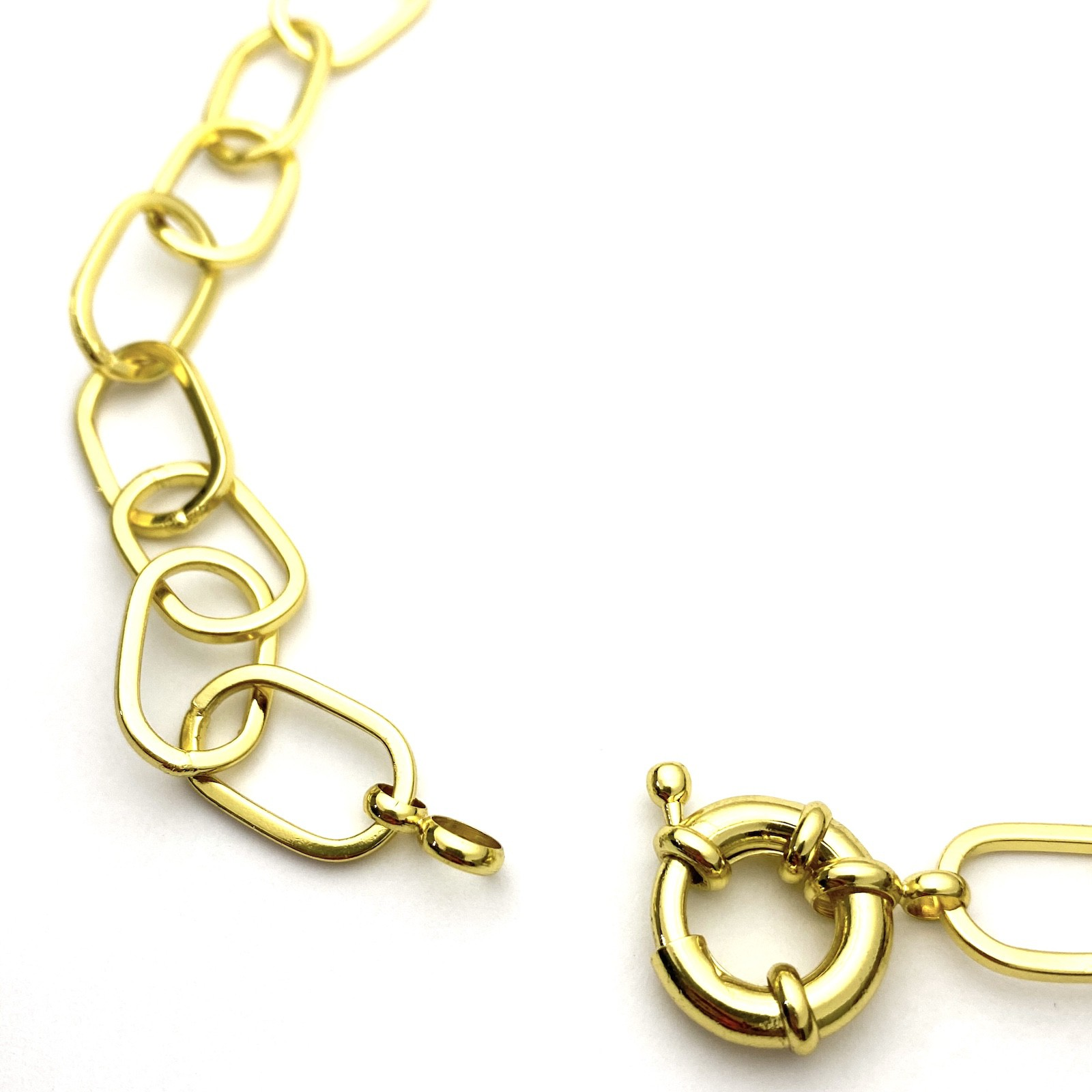 Corrente Chain Elos Fecho Boia 40cm 20g (Banho Ouro 24k)