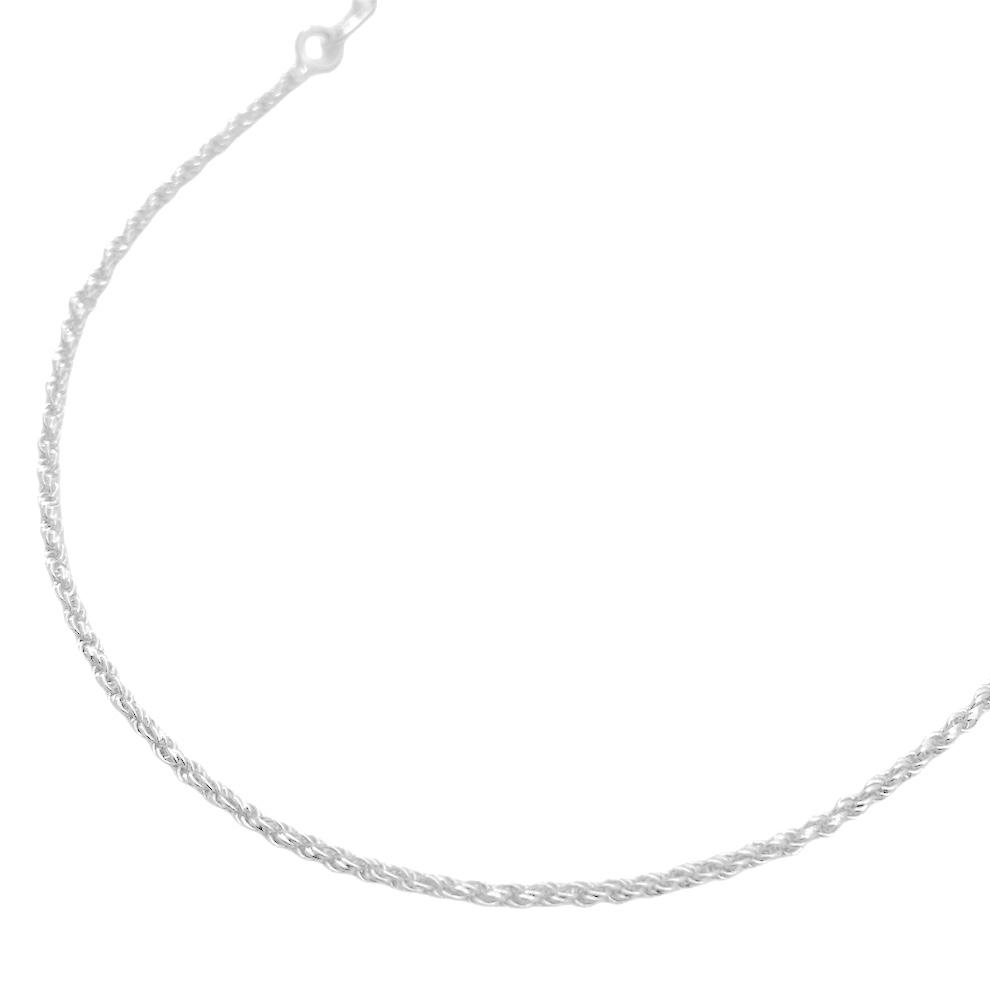 Corrente Cordão Baiano Diamantado 1,8mm 60cm (Fecho Tradicional) (Banho Prata 925)
