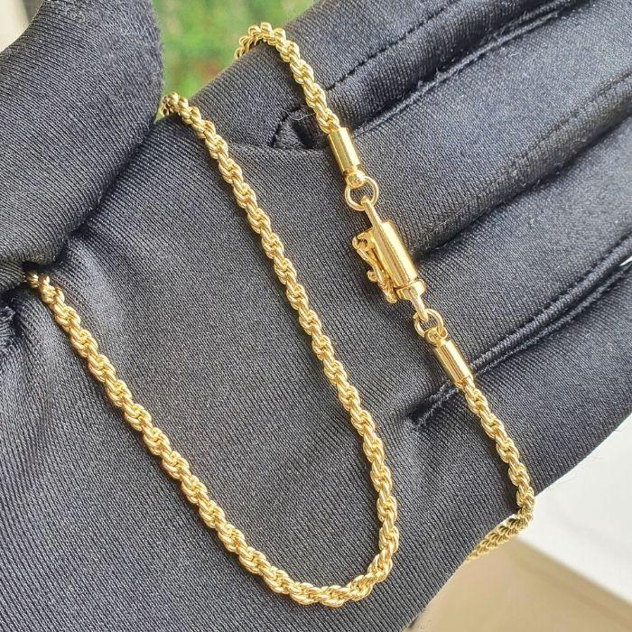 Corrente Cordão Baiano 2,5mm 60cm (15g) (Fecho Canhão) (Banho Ouro 24k)