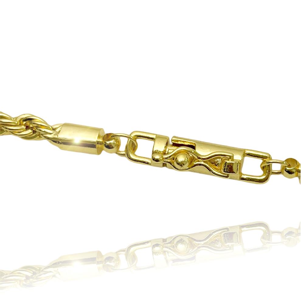 Corrente Cordão Baiano 4mm 70cm 30g (Fecho Canhão) (Banho Ouro 18K)