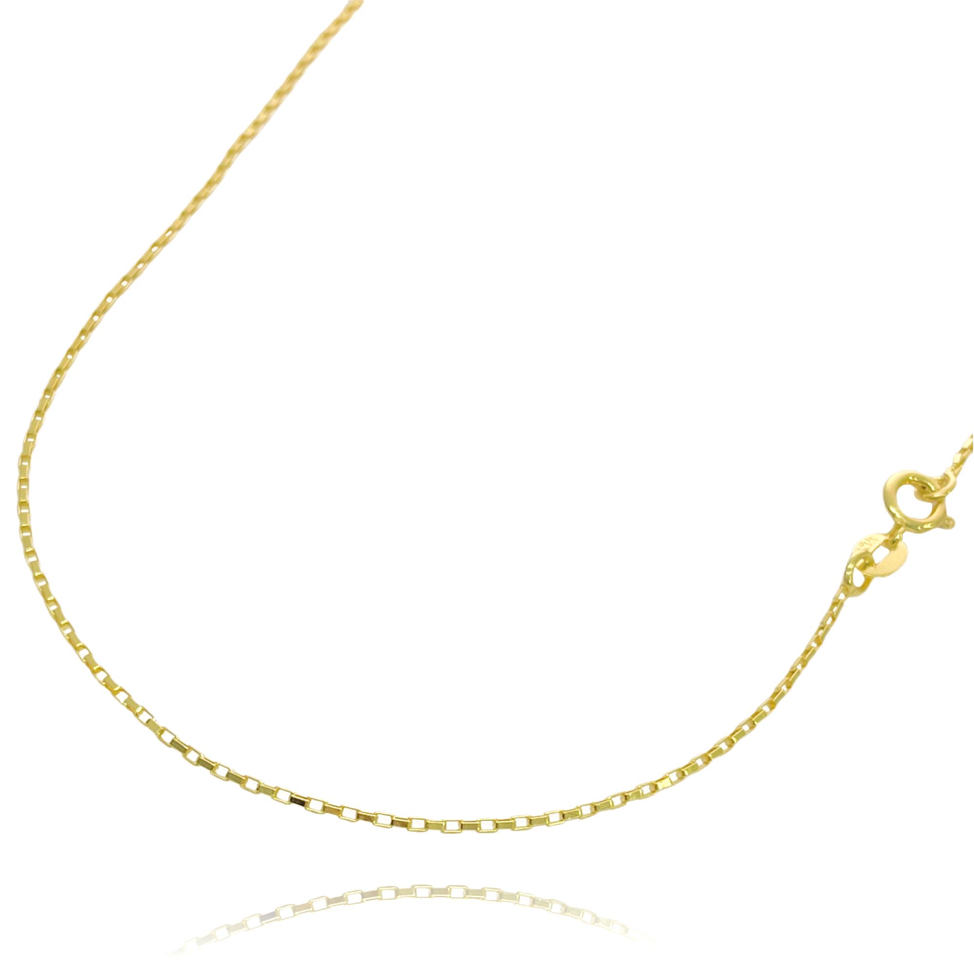 Corrente Cubinho 1,5mm 80cm (Fecho Tradicional) (Banho Ouro 24k)