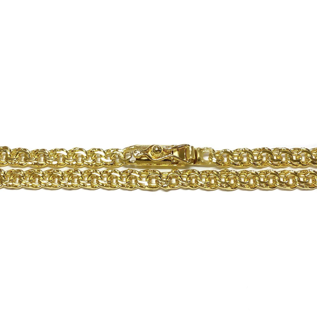Corrente Friso 5,5mm 70cm 28g (Fecho Gaveta Frontal) (Banho Ouro 18K)
