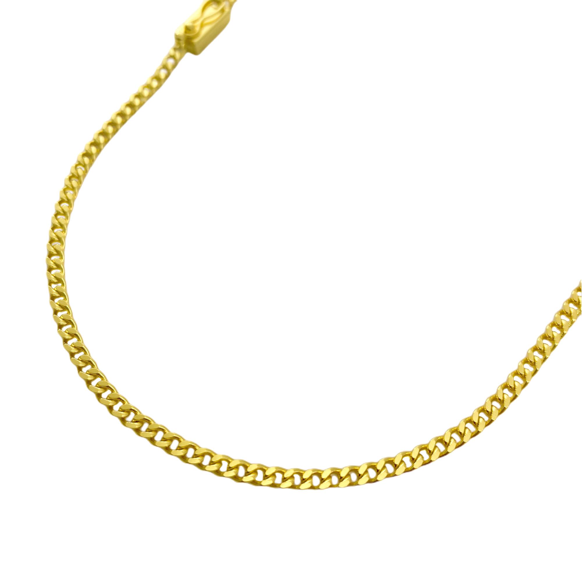 Corrente Grumet 2,5mm 70cm (7,3g) (Fecho Gaveta) (Banho Ouro 24k)