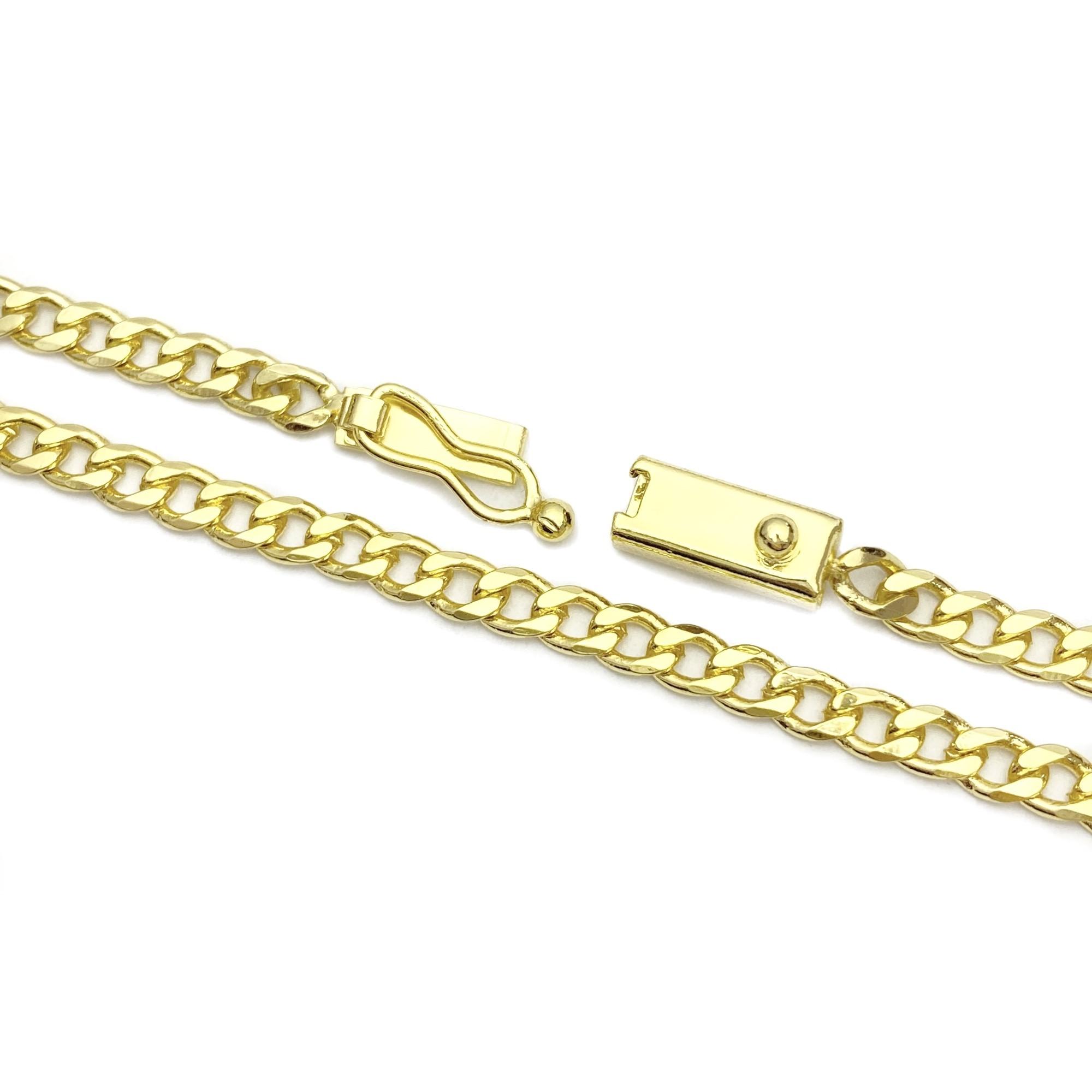 Corrente Grumet 2,8mm 60cm 11g (Fecho Gaveta) (Banho Ouro 24k)