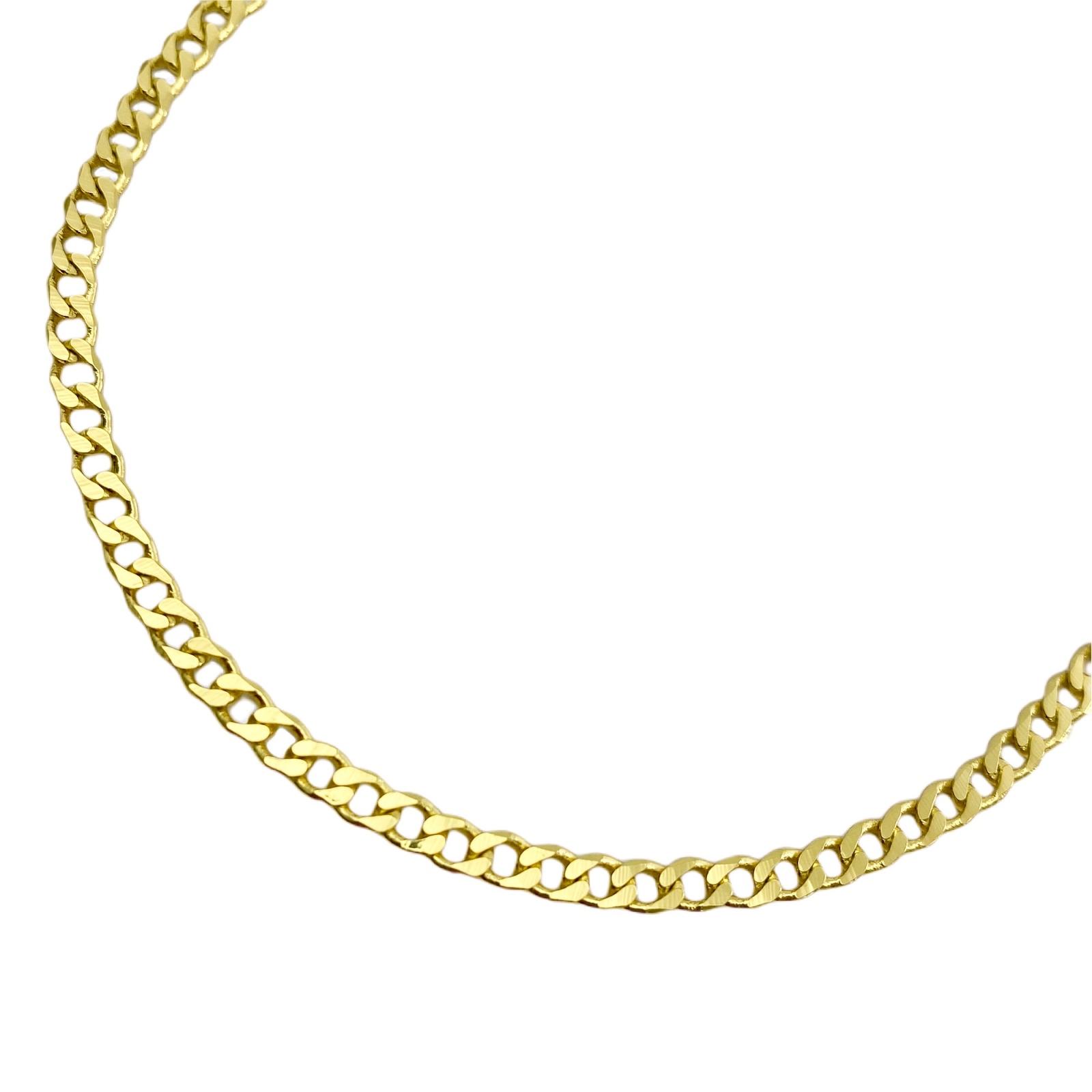 Corrente Grumet 3,2mm 60cm (10g) (Fecho Gaveta) (Banho Ouro 24k)
