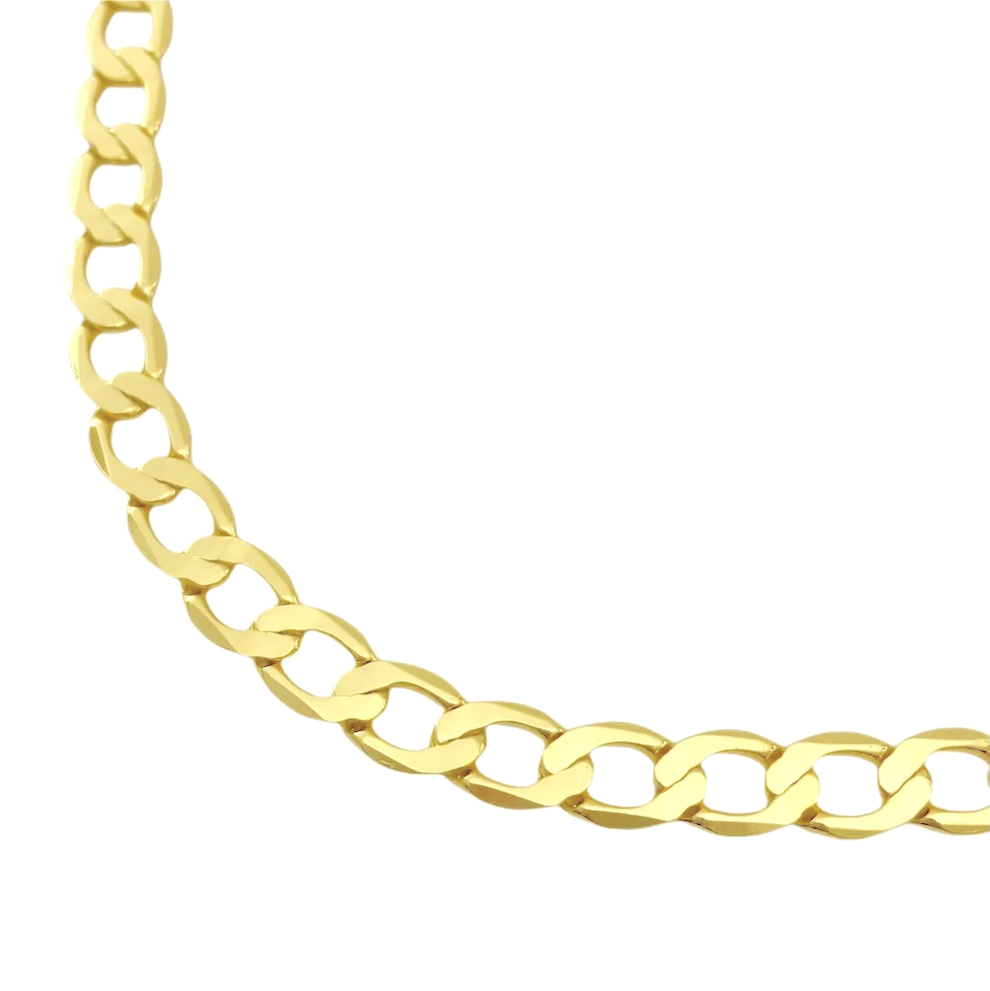 Corrente Grumet 6,5mm 70cm 22,5g (Fecho Gaveta) (Banho Ouro 24k)