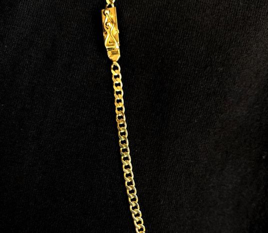 Corrente Grumet 2,8mm 70cm 12,3g (Fecho Gaveta) (Banho Ouro 24k)