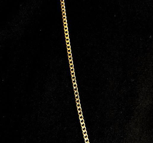 Corrente Grumet 2mm 70cm (Fecho Tradicional) (Sem TAG) (Banho Ouro 24k)
