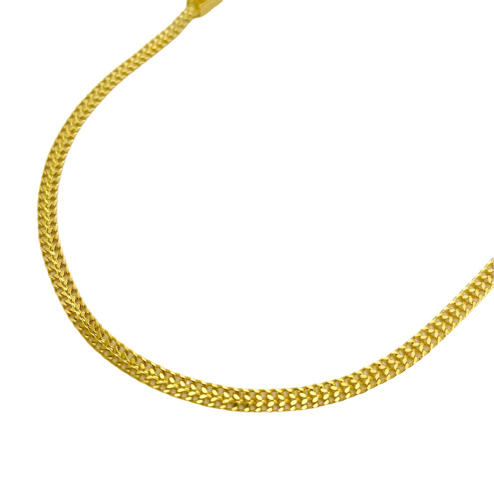 Colar Grumet Union 3,3mm 40cm (Fecho Gaveta) (Banho Ouro 24k)