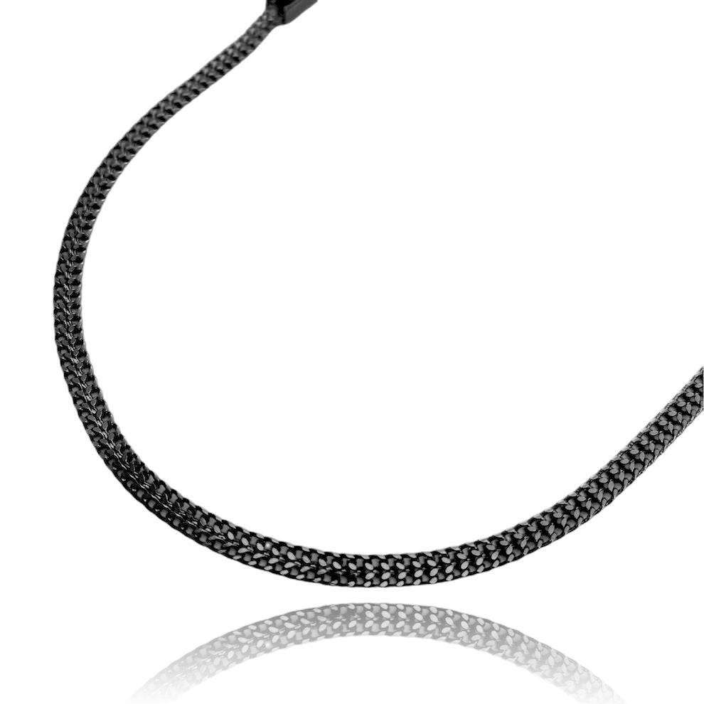 Corrente Grumet Union 3,3mm 60cm (7,8g) (Fecho Gaveta) (Banho de Ônix)