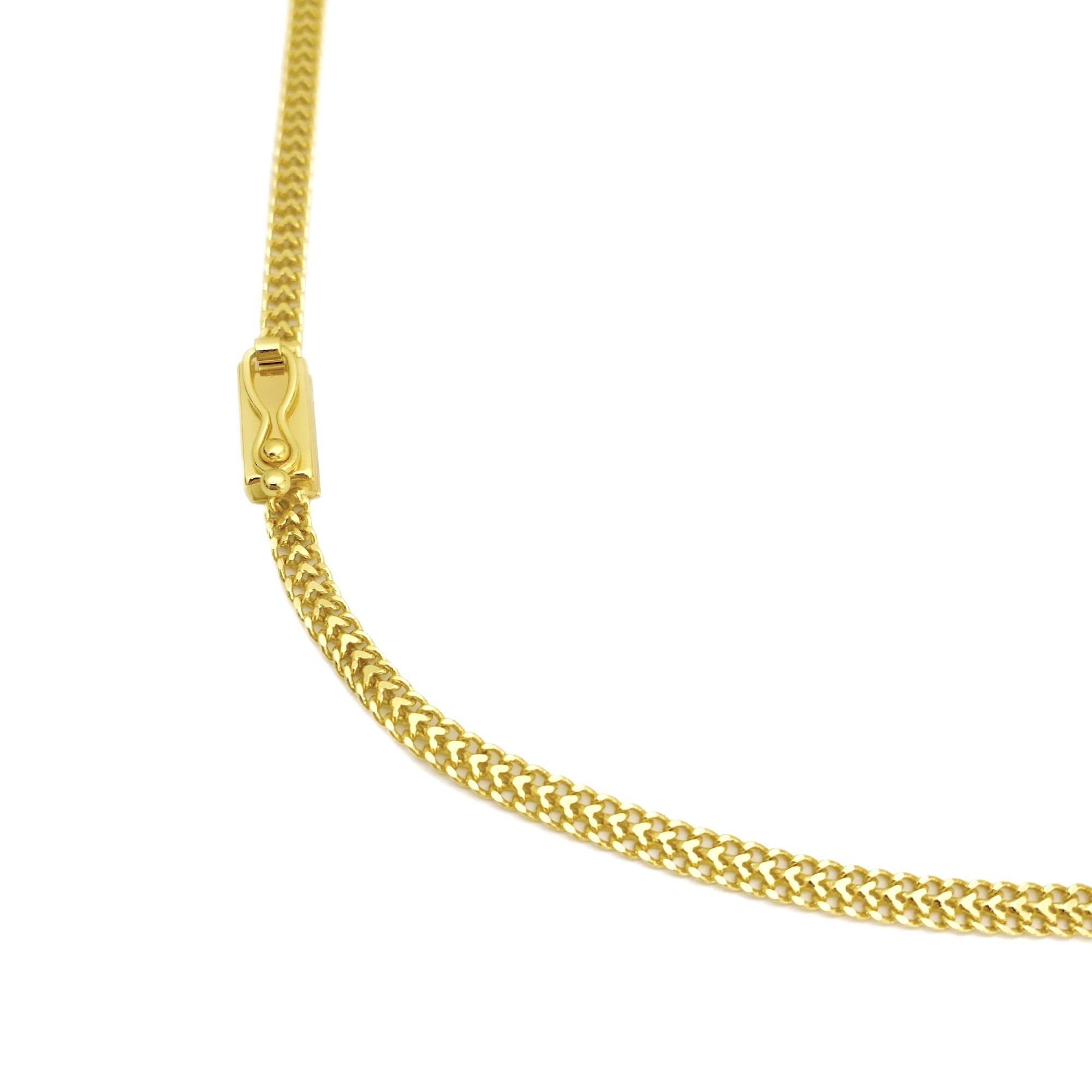 Corrente Grumet Union 3,3mm 70cm (9,2g) (Fecho Gaveta) (Banho Ouro 24k)