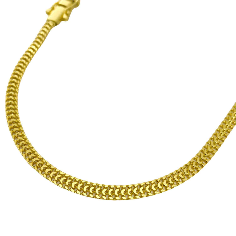 Corrente Grumet Union 4mm 60cm (15g) (Fecho Gaveta Duplo) (Banho Ouro 24k)