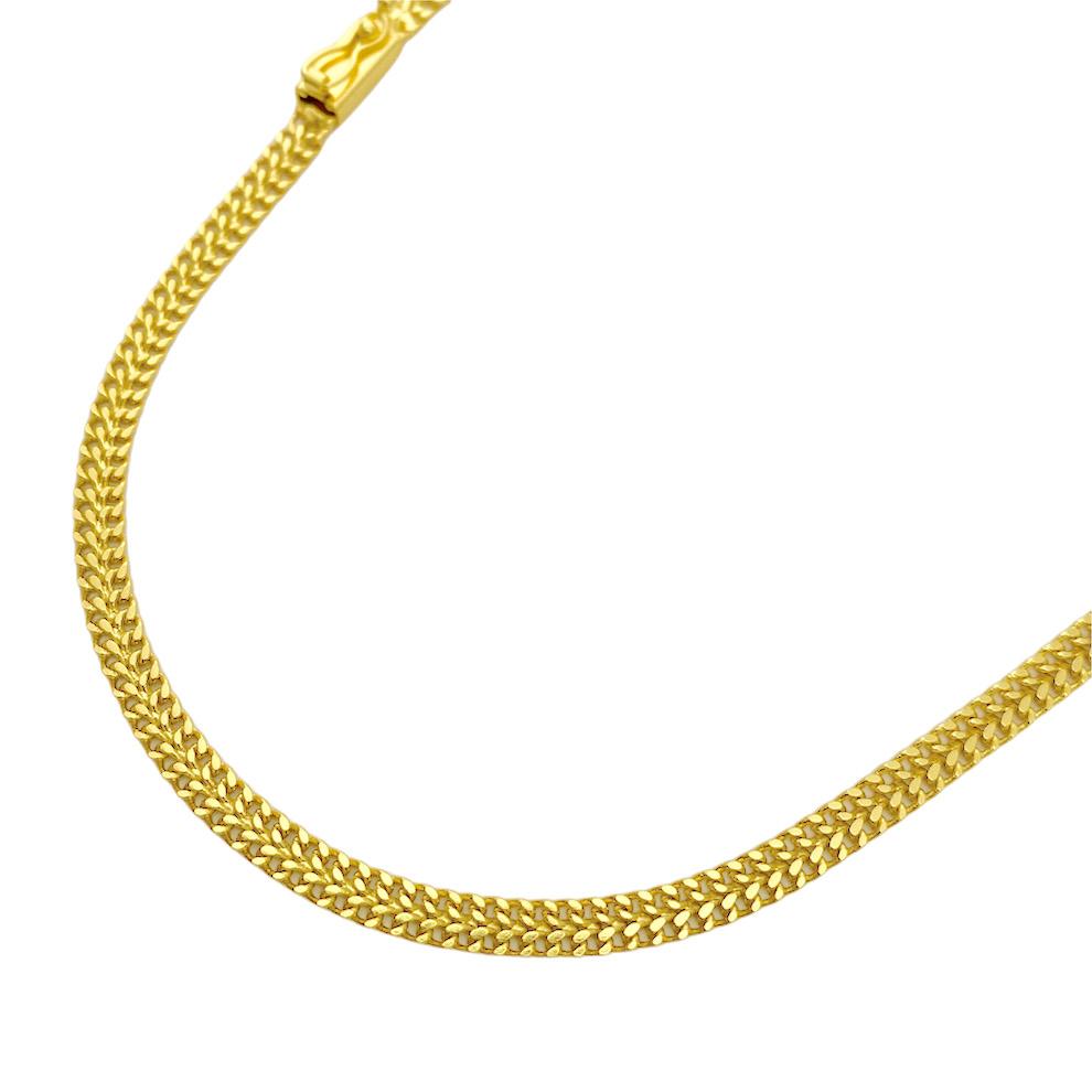 Corrente Grumet Union 4mm 70cm (15,3g) (Fecho Gaveta) (Banho Ouro 24k)