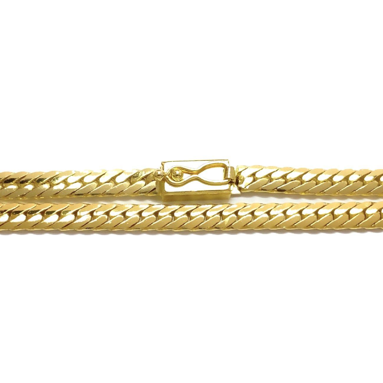 Corrente Lacraia 4,5mm 70cm (34g) (Fecho gaveta) (Banho Ouro 24k)