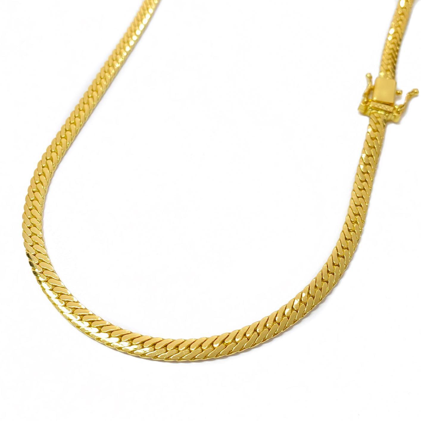 Corrente Lacraia 4,5mm 70cm 32g (Fecho Gaveta Duplo) (Banho Ouro 24K)