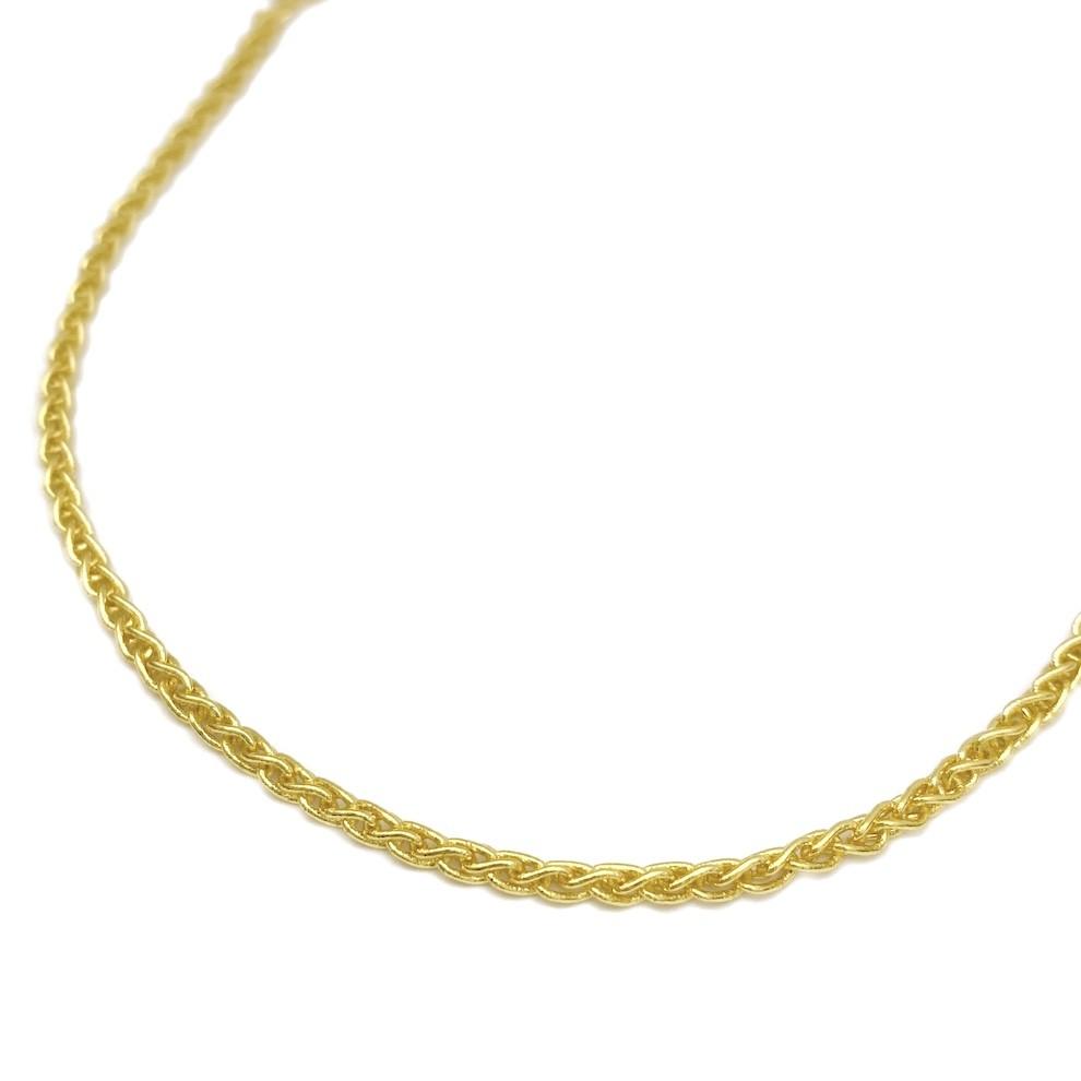 Corrente Peruana 2mm 50cm 6,5g (Fecho Tradicional) (Banho Ouro 24K)