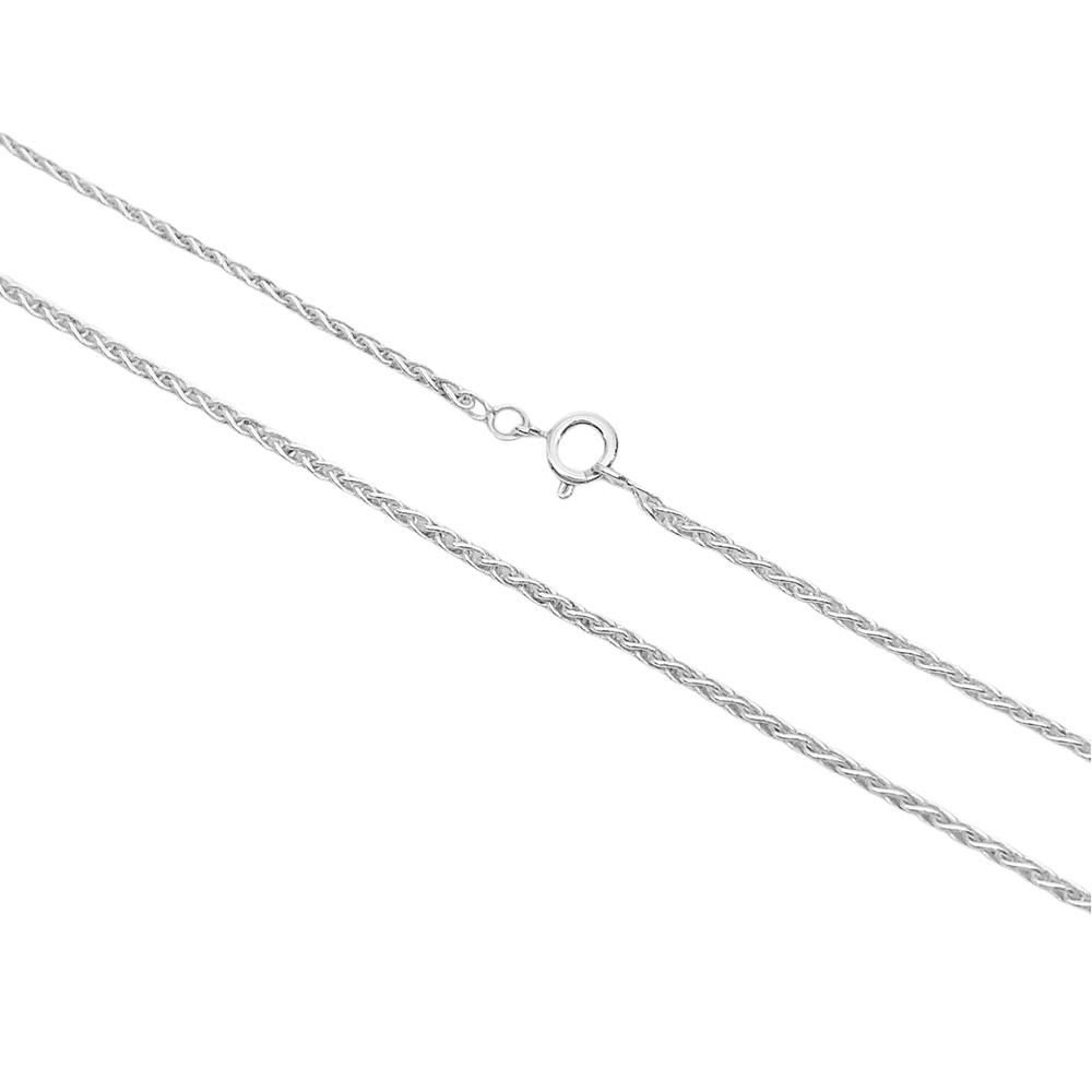 Corrente Peruana 2mm 60cm (Fecho Tradicional) (Banho Prata 925)