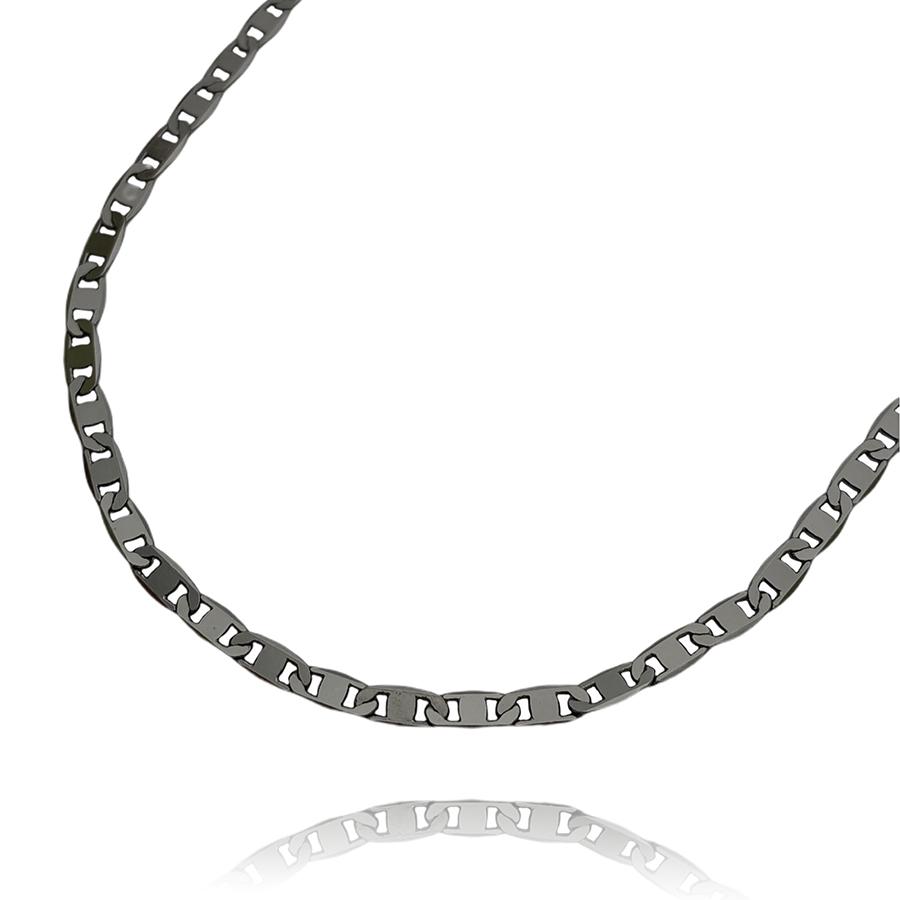 Corrente Piastrine 3,6mm 60cm (9g) (Fecho Gaveta) (Banho de Ônix)