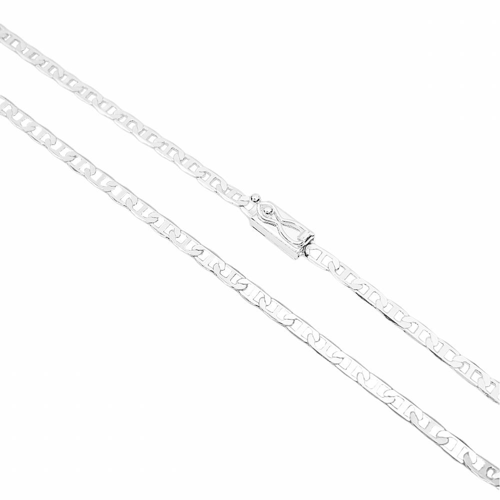 Corrente Piastrine 3,3mm 60cm 9g (Fecho Gaveta) (Banho Prata 925)