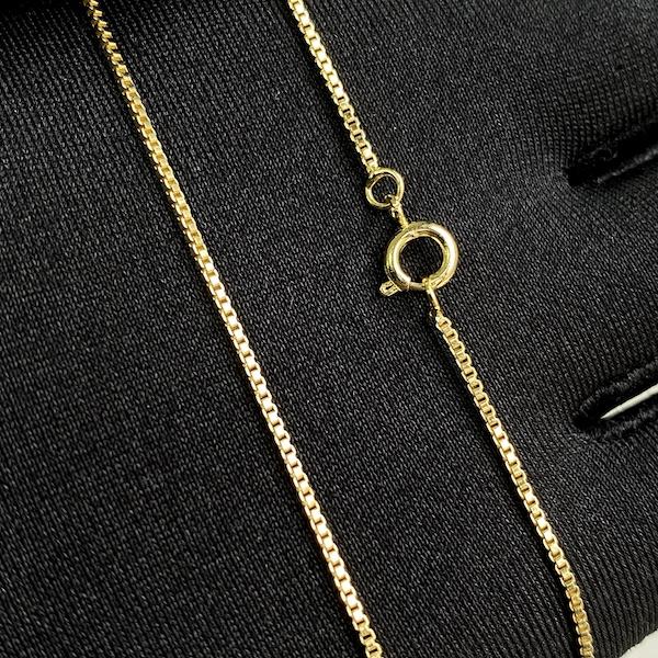 Corrente Veneziana 1,2mm 40cm (Fecho Tradicional) (Banho Ouro 24k) + Pingente Coração Chave Cravejado em Zircônia 3,5x1,1cm (Banho Ouro 24k)