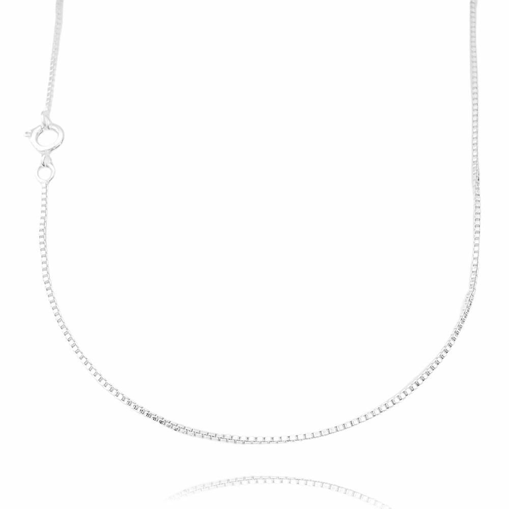 Corrente Veneziana 1,2mm 60cm (Fecho Tradicional) (Banho Prata 925)
