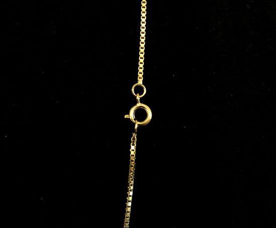 Corrente Veneziana 1,2mm 70cm (Fecho Tradicional) (Banho Ouro 24k)