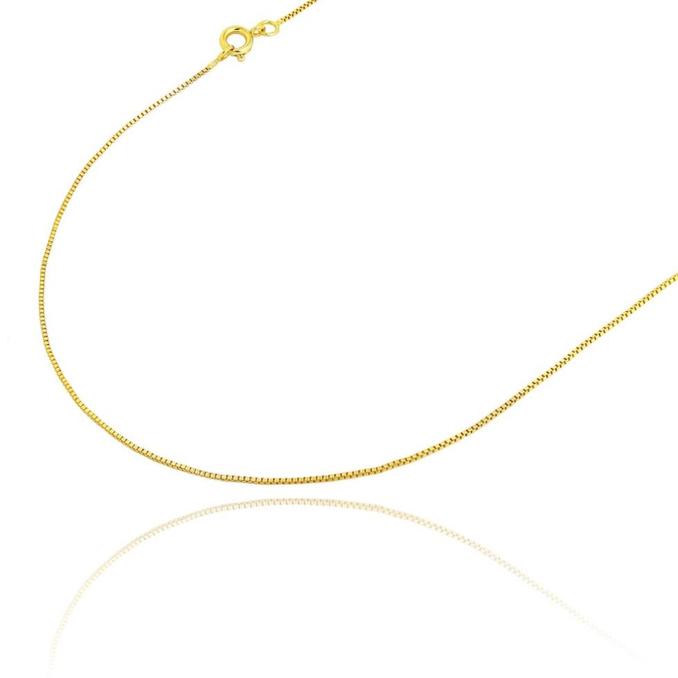 Corrente Veneziana 1mm 70cm (Fecho Tradicional) (Banho Ouro 24k)