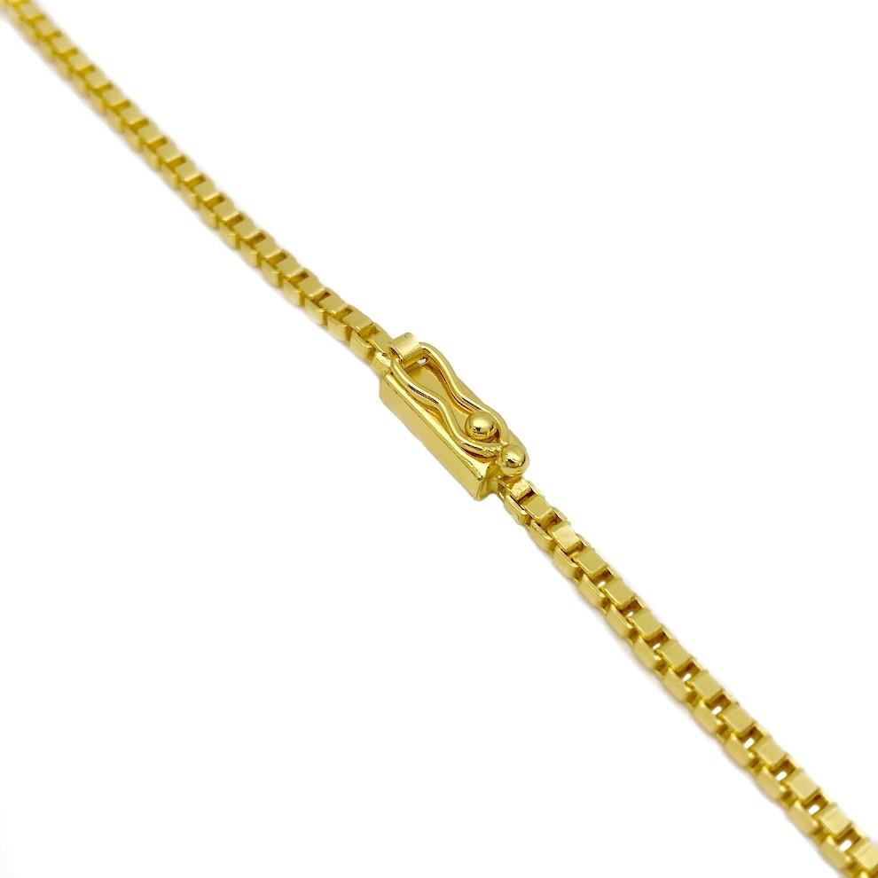 Corrente Veneziana 2mm 70cm (14,5g) (Fecho Gaveta) (Banho Ouro 24k)