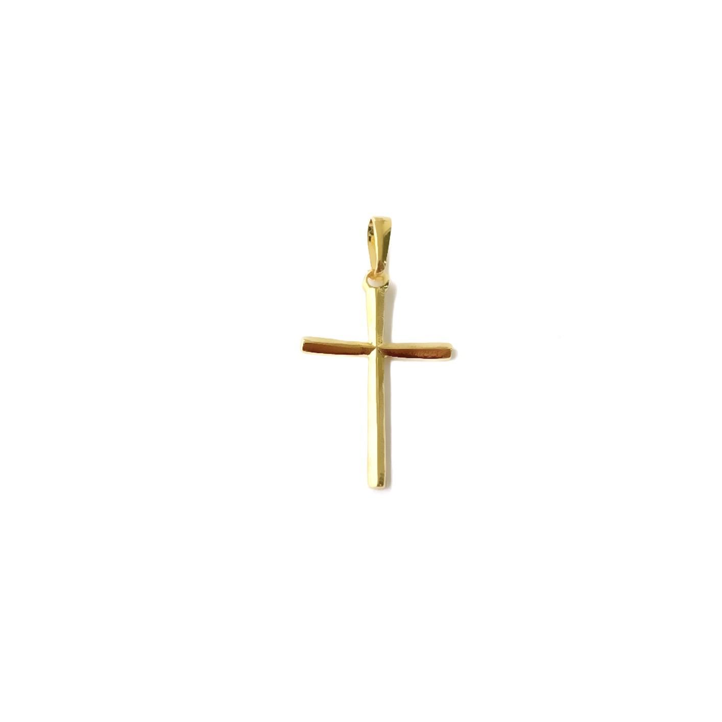 Pingente Crucifixo Texturizado 1,8cm X 2,8cm