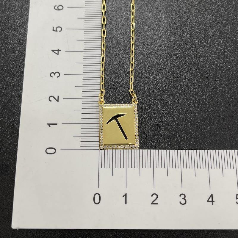 Escapulário GDO e Cruz Vazada Cravejado em Zircônia 60cm Carrier Cadeado (7,7g) (Banho Ouro 24k)