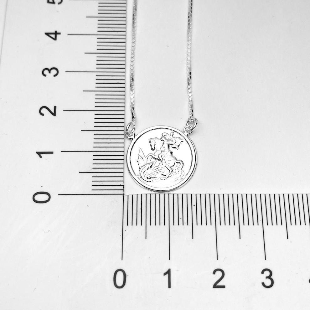 Escapulário São Jorge 60cm Veneziana (Prata 925 Italiana)