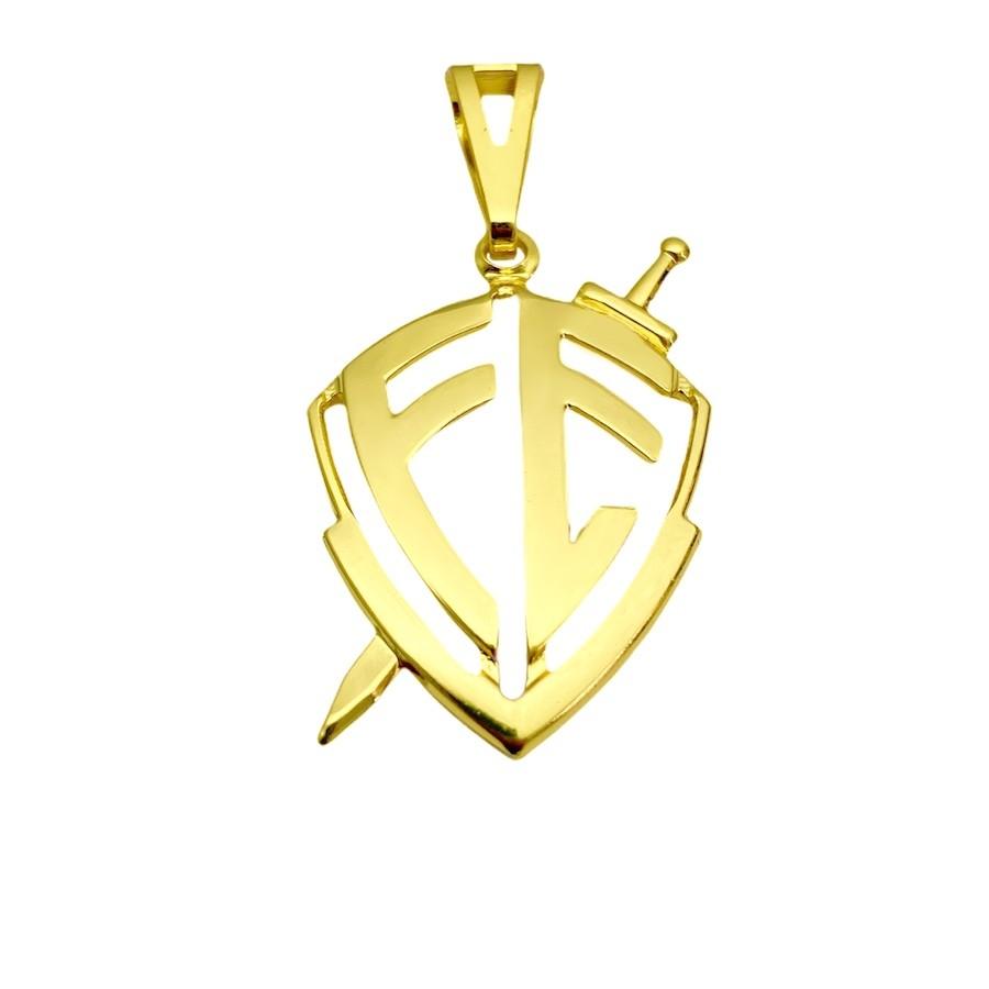 Escudo Da Fé Vazado P (3,1cmX3cm) (Banho Ouro 24k)