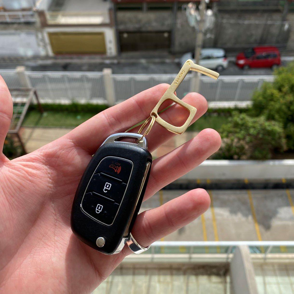 Key Touch GDO (Chaveiro Antimicrobiano) 3 Unidades (Brinde Solidário- VALOR 100% CONVERTIDO EM DOAÇÃO)