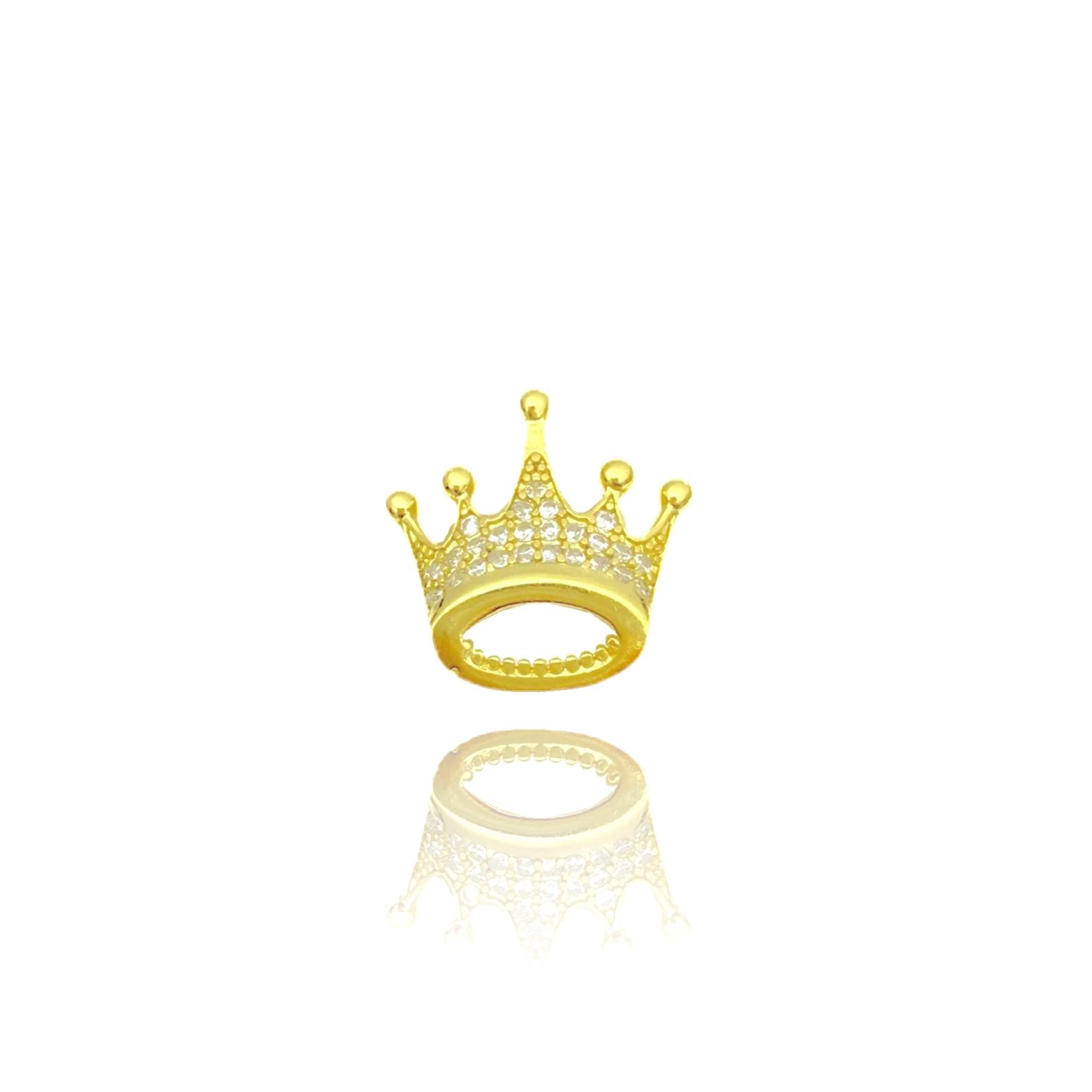 kit Corrente 3 por 1 1,6mm 40cm (Fecho Tradicional) + Pingente Coroa Cravejado em Zircônia