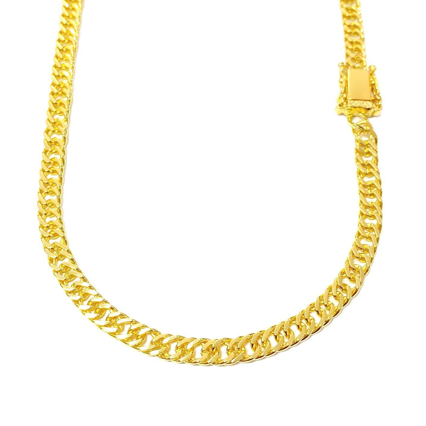 kit Corrente Double Grumet Diamantada 5,5mm 60cm 28g (Fecho Gaveta Dupla) + Pingente Medusa Octa 6,5g 2,7cm x 2,7cm (Banho Ouro 24k)Pingente Medusa Octa 6,5g 2,7cm x 2,7cm (Banho Ouro 24k)