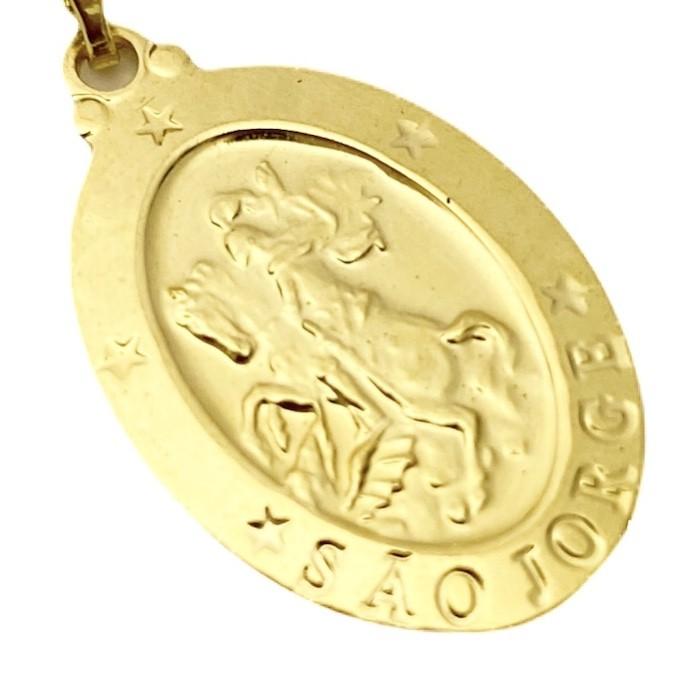 Medalhão de São Jorge 2cm X 1,4cm