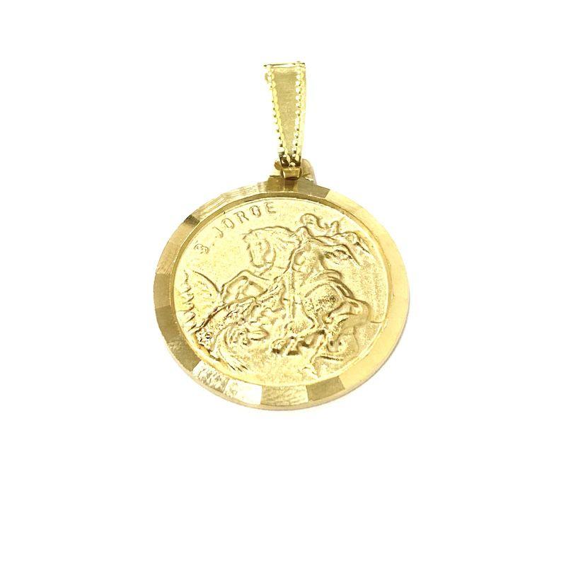 Medalhão São Jorge Texturizado 2,3cm X 2,3cm *