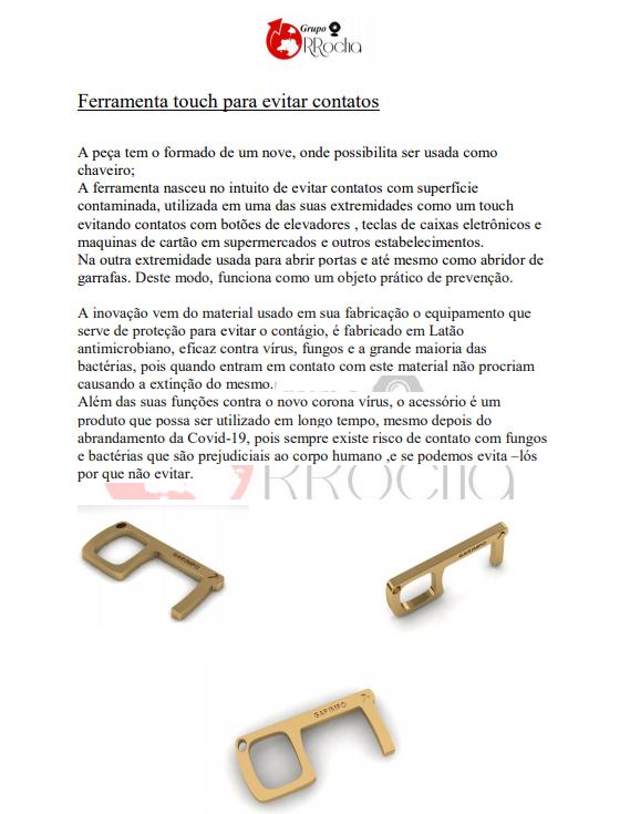 Key Touch GDO (Chaveiro Antimicrobiano) 50 Unidades