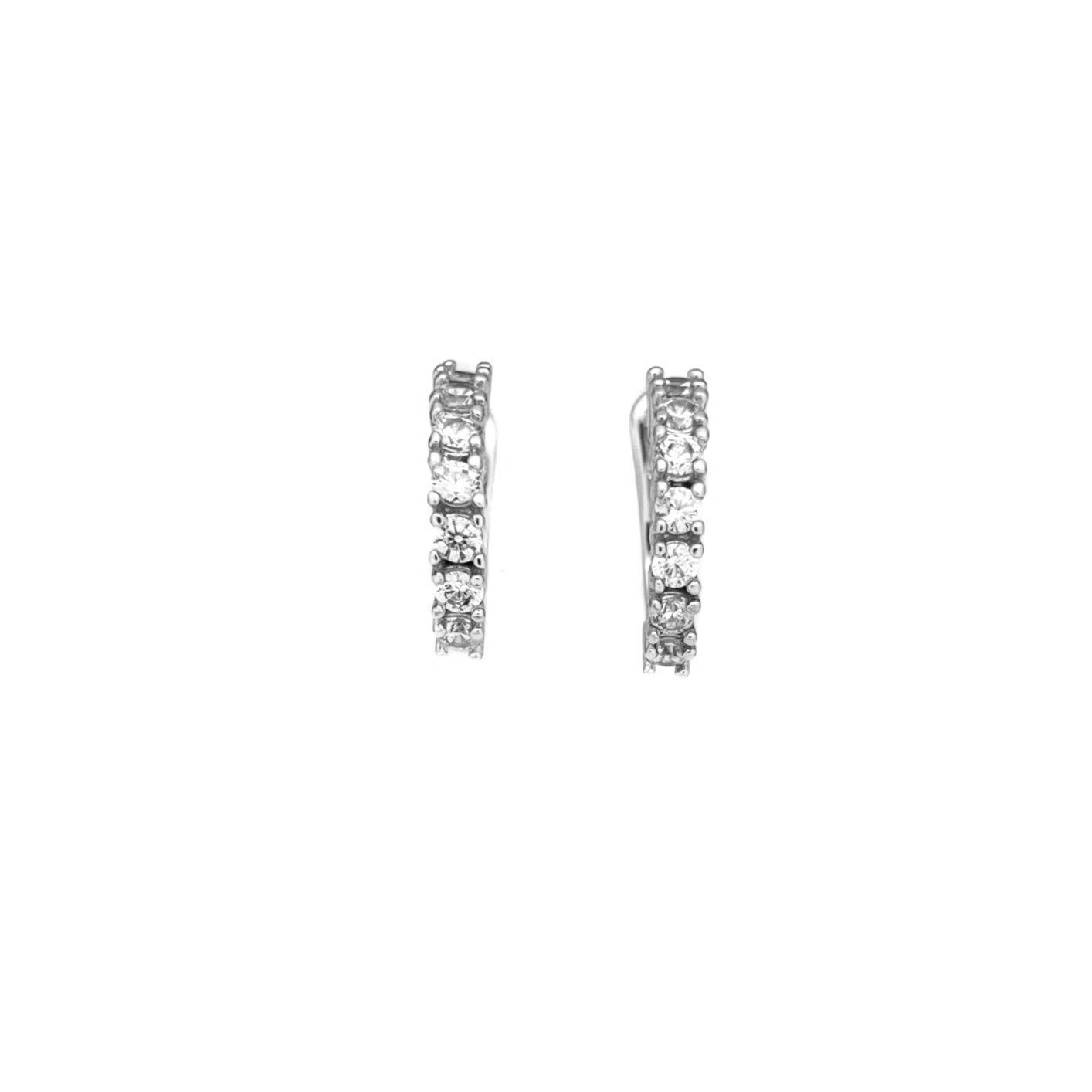 Piercing Fake Concha Helix Zircônia 1 Fileira (Banho Prata 925)