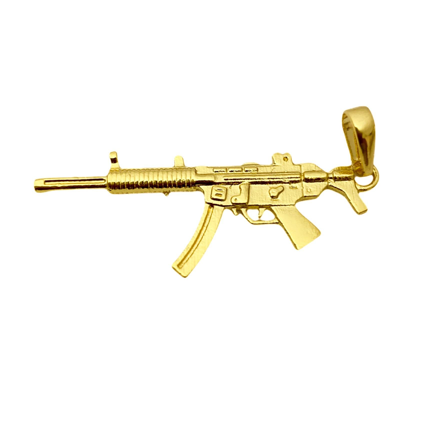 Pingente ARMA MP5 4,1CM X 1,5CM