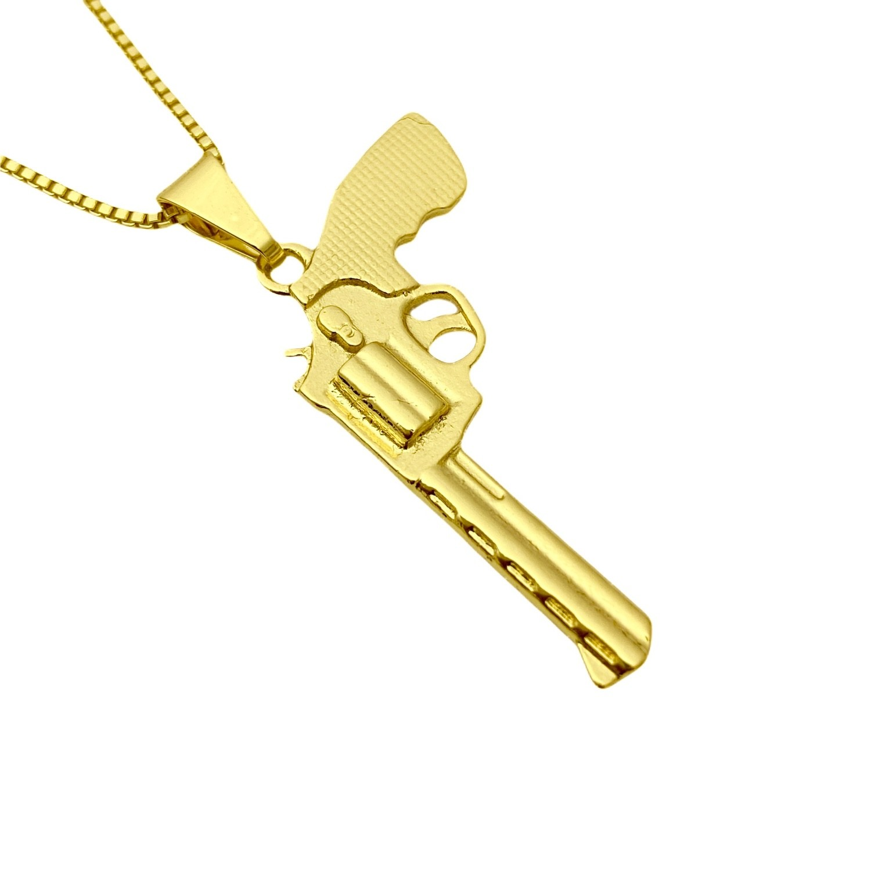 Pingente Arma Revolver .38 2,0cm X 3,3cm