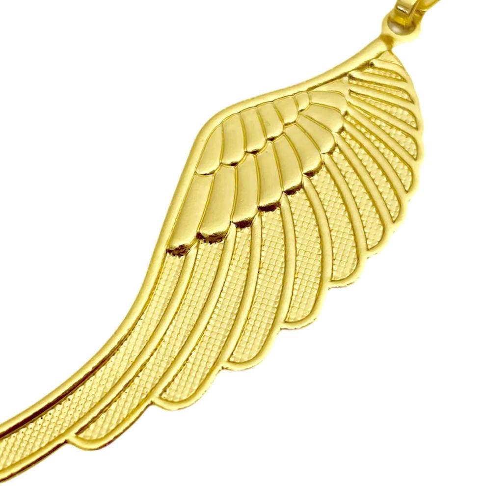 Pingente Asa de Anjo (4,5cmX1,7cm) (Banho Ouro 24k)