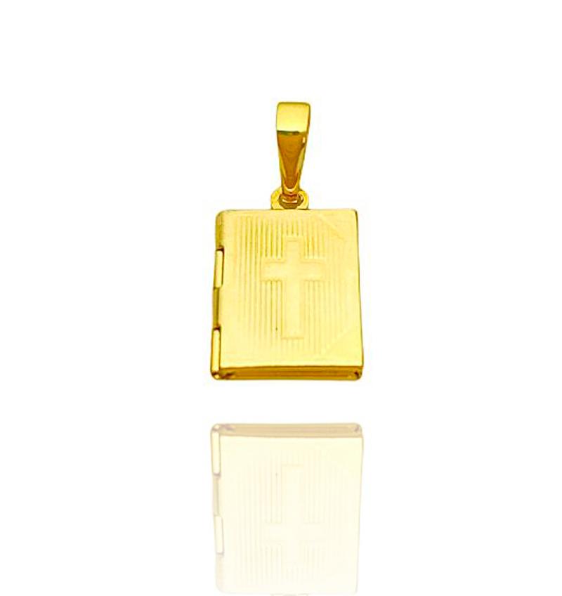 Pingente Bíblia Recordações Mini (1,9cmX1,3cm) (Banho Ouro 24k)