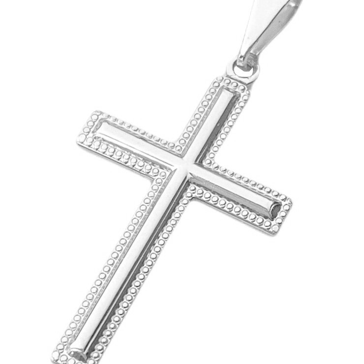 Pingente Crucifixo (2,5cmX1,6cm) (Banho Prata 925)