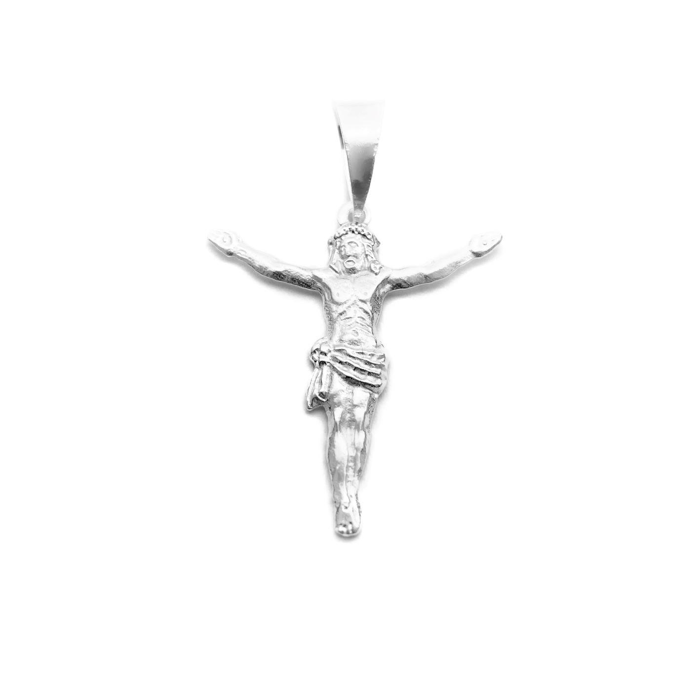 Pingente Crucifixo Cristo 3cm x 2,6cm (Prata 925 Italiana)