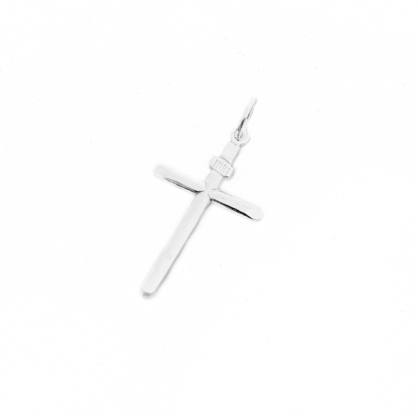 Pingente Crucifixo Inri 2,8cm x 1,6cm (Prata 925 Italiana)
