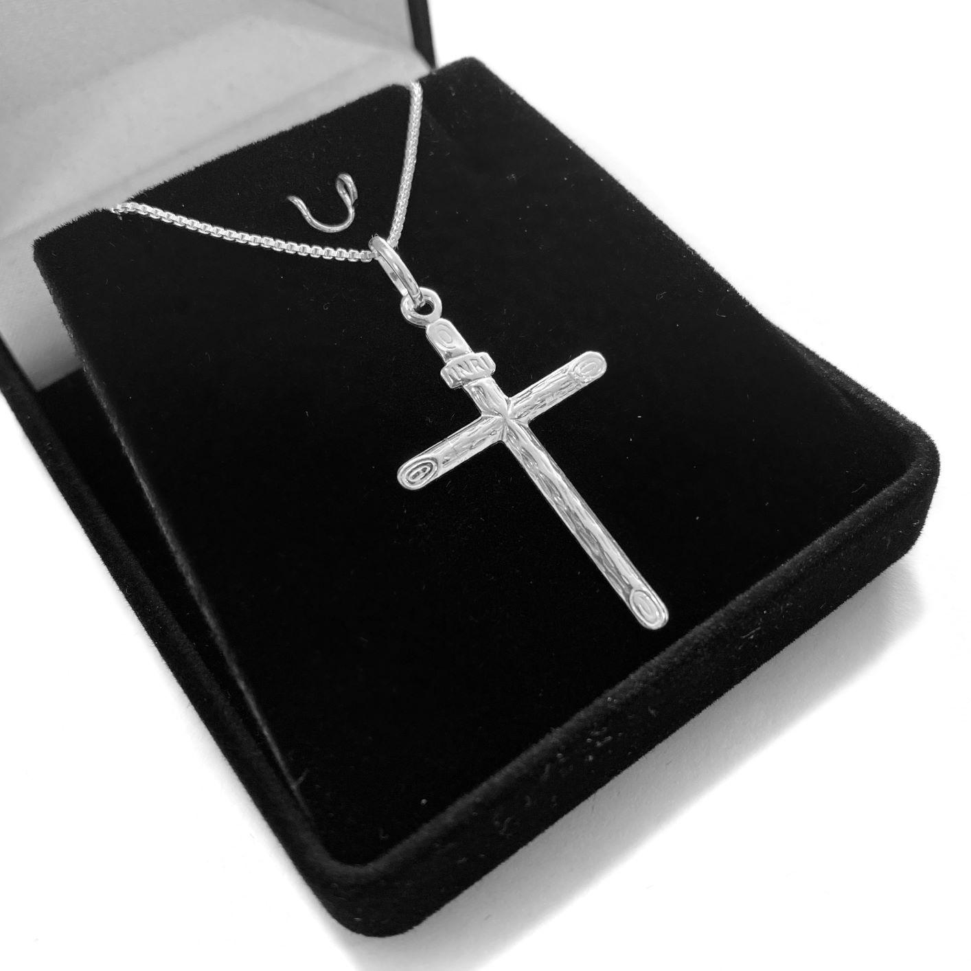 Pingente Crucifixo Inri 3,4cm X 2cm (Prata 925 Italiana)