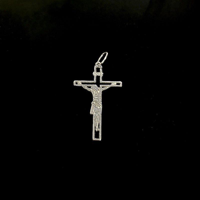 Pingente Crucifixo Inri 3,7cm x 2,1cm (Prata 925 Italiana)
