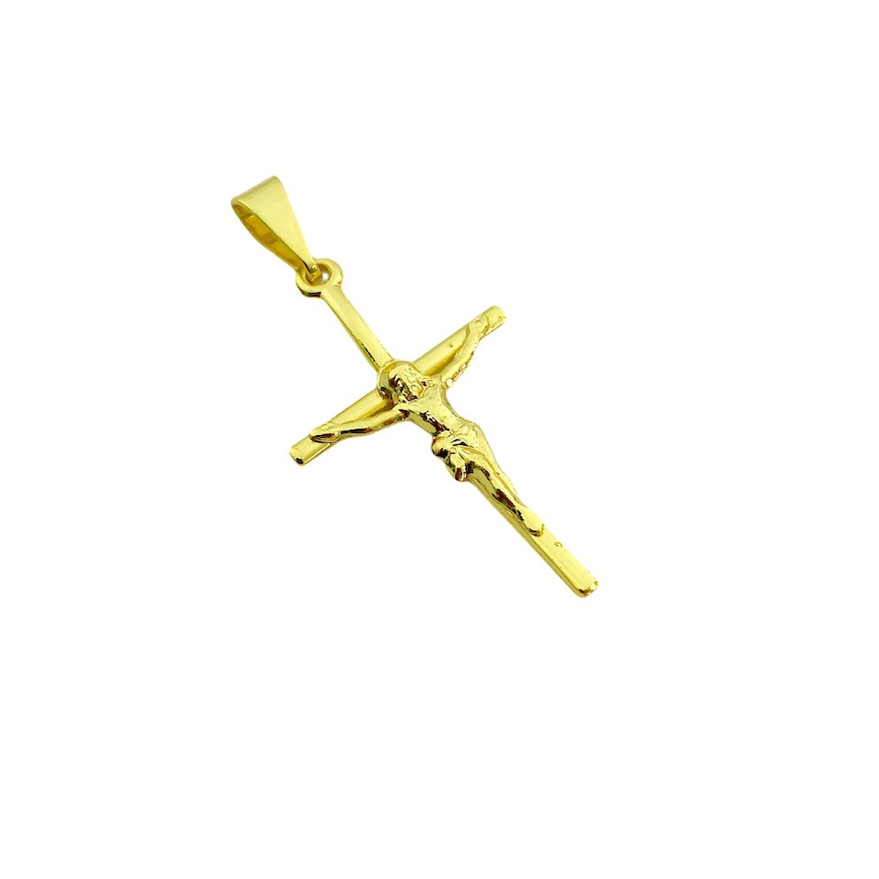 Pingente Crucifixo Jesus Relevo 4,5cm X 2,7cm