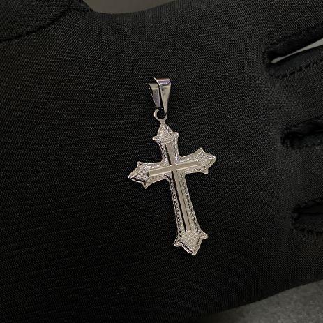 Pingente Crucifixo Médio (3,3cmX2cm) (Banho de Ônix)